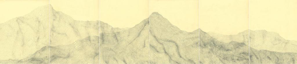 pencil on paper, 29 x 132 m